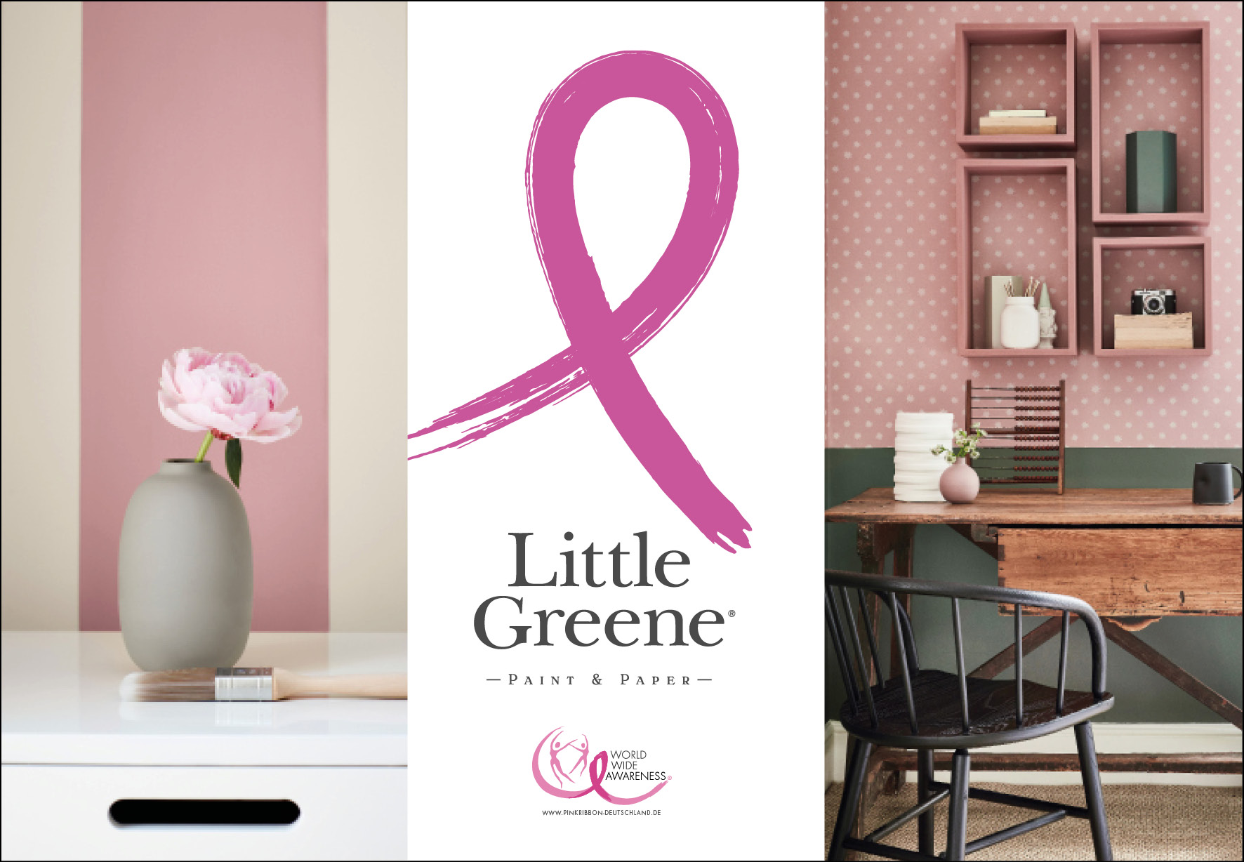 Little Greene Pink Ribbon